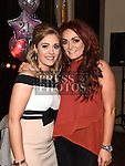 Emma Kerr celebrating her 21st birthday in the Thatch with friend Niamh McManus. Photo:Colin Bell/pressphotos.ie