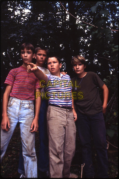 Wil Wheaton, River Phoenix, Jerry O'Connell, Corey Feldman<br /> in Stand by Me (1986) <br /> *Filmstill - Editorial Use Only*<br /> CAP/NFS<br /> Image supplied by Capital Pictures
