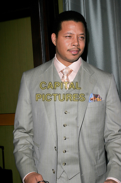 TERRENCE HOWARD.At Cocoon Restaurant, Air Street, London, England. .April 24th 2008.half length grey gray suit jacket waistcoat facial hair .CAP/AH.©Adam Houghton/Capital Pictures.