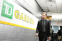June 6, 2019: Boston Bruins defenseman Brandon Carlo (25) makes his way to the locker room before game 5 of the NHL Stanley Cup Finals between the St Louis Blues and the Boston Bruins held at TD Garden, in Boston, Mass. Eric Canha/CSM