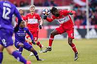 Bridgeview, IL - Saturday March 09, 2019: Major League Soccer (MLS) match between the Chicago Fire and Orlando City SC at SeatGeek Stadium.