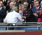 Majority shareholder Stan Kronke greets FA Cup winner Arsene Wenger manager of Arsenal during the Emirates FA Cup Final match at Wembley Stadium, London. Picture date: May 27th, 2017.Picture credit should read: David Klein/Sportimage