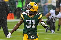Green Bay Packers cornerback Davon House (31) during a National Football League game against the New Orleans Saints on October 22, 2017 at Lambeau Field in Green Bay, Wisconsin.  New Orleans defeated Green Bay 26-17. (Brad Krause/Krause Sports Photography)