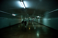 Underground landscape view of a pedestrian tunnel near the Concert Hall of the National Center for the Performing Arts in Dongcheng, Beijing  © LAN