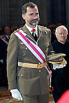 Prince Felipe of Spain during the celebration of the chapter of the Royal and Military Order of St. Hermenegildo.May 28,2013. (ALTERPHOTOS/Acero)