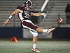 Daniel Boccafola #31 of Garden City punts downfield during the Nassau County Conference II varsity football final against Mepham at Hofstra University on Friday, Nov. 17, 2017. Garden City won by a score of 33-0.