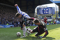 Sheffield Wednesday v Cardiff .Sky Bet Championship ....... Wednesdays Gary Hooper wriggles past cardiff keeper Marshall and hits the ball home for the second