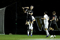 WINSTON-SALEM, NC - DECEMBER 01: David Wrona #13 of Wake Forest University challenges for a header during a game between Michigan and Wake Forest at W. Dennie Spry Stadium on December 01, 2019 in Winston-Salem, North Carolina.