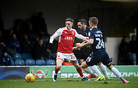 Fleetwod Town's Ashley Hunter battles with Southend United's Jason Demetriou <br /> <br /> Photographer Hannah Fountain/CameraSport<br /> <br /> The EFL Sky Bet League One - Southend United v Fleetwood Town - Saturday 13th January 2018 - Roots Hall - Southend<br /> <br /> World Copyright &copy; 2018 CameraSport. All rights reserved. 43 Linden Ave. Countesthorpe. Leicester. England. LE8 5PG - Tel: +44 (0) 116 277 4147 - admin@camerasport.com - www.camerasport.com