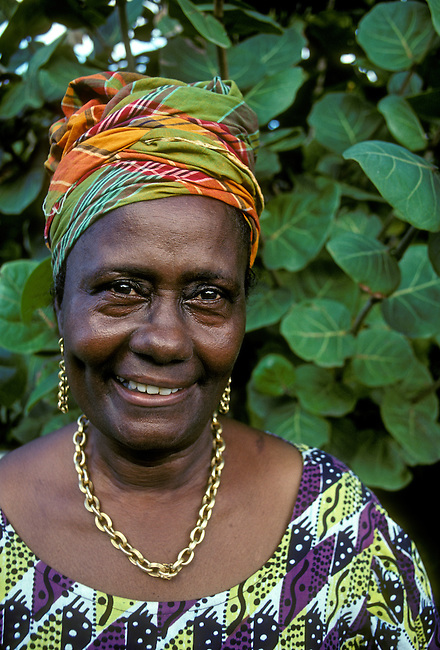 Madame Prudence Marcelin People Woman Town Of Anse Bertrand Grande Terre