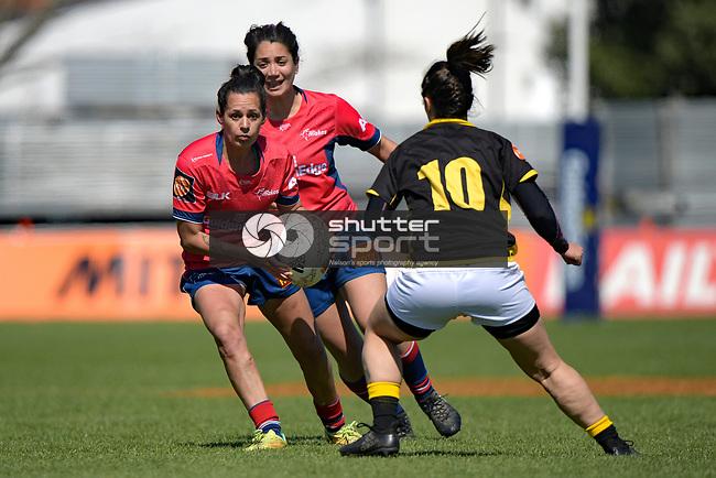 NELSON, NEW ZEALAND September 23: Tasman Mako Woman v Wellington, Tarfalgar Park, Nelson, New Zealand, September 23, 2018 (Photos by: Barry Whitnall/Shuttersport Ltd
