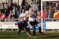 Ben Gerring of Woking tries a spectacular overhead kick during Dartford vs Woking, Vanarama National League South Football at Princes Park on 23rd February 2019