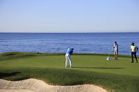 Bryson DeChambeau (USA) putts on the 7th green during Sunday's Final Round of the 2018 AT&amp;T Pebble Beach Pro-Am, held on Pebble Beach Golf Course, Monterey,  California, USA. 11th February 2018.<br /> Picture: Eoin Clarke | Golffile<br /> <br /> <br /> All photos usage must carry mandatory copyright credit (&copy; Golffile | Eoin Clarke)