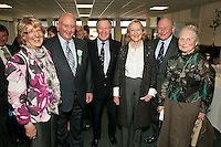 The gang's all here: from left are Sue and Roger Hazrd, Graham and Sheila Davies, Frank Reynolds and Margaret Collingham