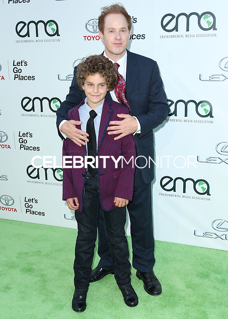 BURBANK, CA, USA - OCTOBER 18: Django Sbarge, Raphael Sbarge arrive at the 2014 Environmental Media Awards held at Warner Bros. Studios on October 18, 2014 in Burbank, California, United States. (Photo by Xavier Collin/Celebrity Monitor)
