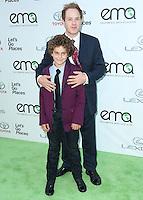 BURBANK, CA, USA - OCTOBER 18: Django Sbarge, Raphael Sbarge arrive at the 2014 Environmental Media Awards held at Warner Bros. Studios on October 18, 2014 in Burbank, California, United States. (Photo by Xavier Collin/Celebrity Monitor)