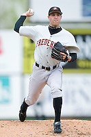 Starting pitcher Brad Bergeson (9) of the Frederick Keys in action versus the Winston-Salem Warthog at Ernie Shore Field in Winston-Salem, NC, Sunday, April 20, 2008.