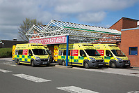 Ambulances outside hoospital Emergency Department