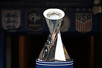 WASHINGTON, DC - MARCH 07: The championship trophy was displayed on the side of the field during the game. The England Women's National Team played the Germany Women's National Team as part of the SheBelieves Cup on March 7, 2017, at RFK Stadium in Washington, DC. Germany won the game 1-0.