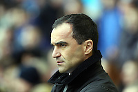 Pictured: Everton manager Roberto Martinez. Saturday 22 March 2014<br /> Re: Barclay's Premier League, Everton v Swansea City FC at Goodison Park, Liverpool, UK.