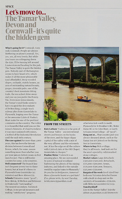 Tamar Valley, commissioned by the THE GUARDIAN WEEKEND MAGAZINE.