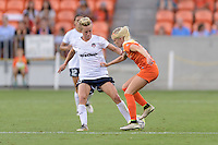 Houston, TX - Thursday Aug. 18, 2016: Joanna Lohman, Denise O'Sullivan during a regular season National Women's Soccer League (NWSL) match between the Houston Dash and the Washington Spirit at BBVA Compass Stadium.