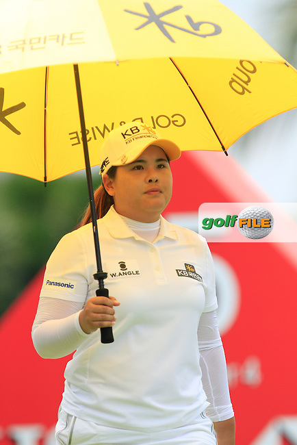Inbee Park (KOR) on the 15th tee during Round 4 of the HSBC Women's Champions at the Sentosa Golf Club, The Serapong Course in Singapore on Sunday 8th March 2015.<br /> Picture:  Thos Caffrey / www.golffile.ie