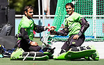 BREDA - keeper Imran Butt (Pak) met keeper Amjad Ali (Pak)     Belgie-Pakistan .  Rabobank Champions  Trophy `2018 .   COPYRIGHT  KOEN SUYK