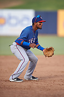 AZL Rangers third baseman Keyber Rodriguez (22) during an Arizona League game against the AZL Brewers Blue on July 11, 2019 at American Family Fields of Phoenix in Phoenix, Arizona. The AZL Rangers defeated the AZL Brewers Blue 5-2. (Zachary Lucy/Four Seam Images)