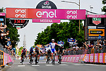 Arnaud Demare (FRA) Groupama-FDJ outsprints Elia Viviani (ITA) Deceuninck-Quick-Step and Rüdiger Selig (GER) Bora-Hansgrohe to win Stage 10 of the 2019 Giro d'Italia, running 145km from Ravenna to Modena, Italy. 21st May 2019<br /> Picture: Gian Mattia D'Alberto/LaPresse | Cyclefile<br /> <br /> All photos usage must carry mandatory copyright credit (© Cyclefile | Gian Mattia D'Alberto/LaPresse)