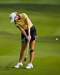 CHON BURI, THAILAND - FEBRUARY 16:  Paula Creamer of USA plays a shoot on the 18th hole during day one of the LPGA Thailand at Siam Country Club on February 16, 2012 in Chon Buri, Thailand.  Photo by Victor Fraile / The Power of Sport Images