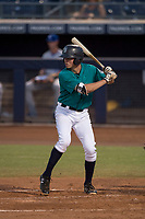 AZL Mariners third baseman Cash Gladfelter (58) at bat during an Arizona League game against the AZL Royals at Peoria Sports Complex on July 25, 2018 in Peoria, Arizona. The AZL Mariners defeated the AZL Royals 5-3. (Zachary Lucy/Four Seam Images)