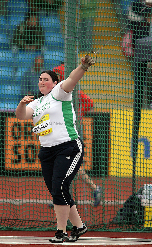Photo: Paul Thomas/Richard Lane Photography..Norwich Union World Trials and AAA Championships. 28/07/2007...Rhiannon McNally during the women's hammer throw.