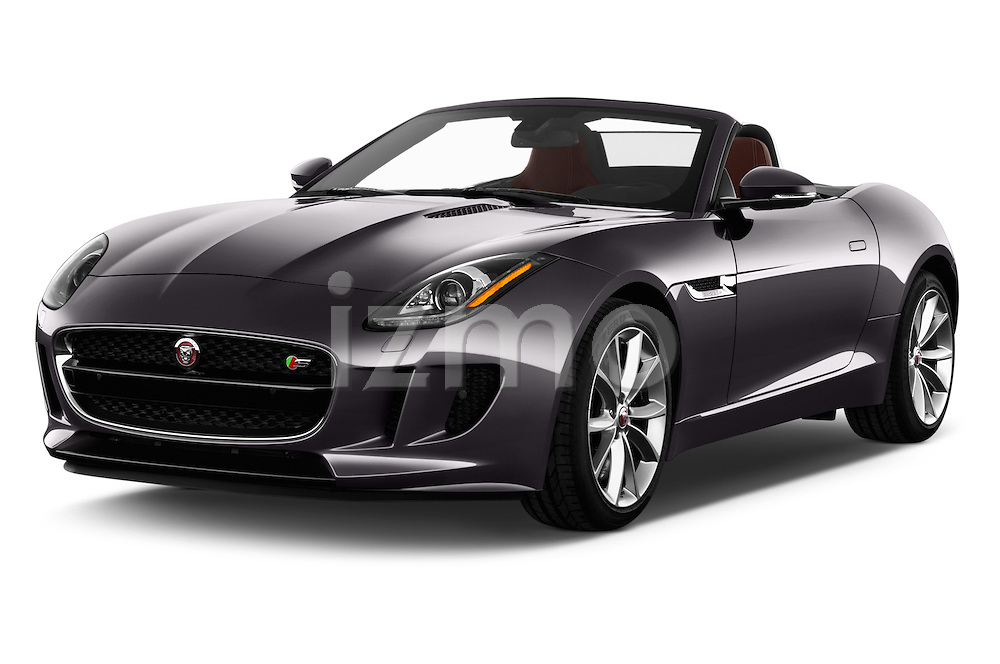 2017 Jaguar F-TYPE S-Convertible 2 Door Convertible Angular Front stock photos of front three quarter view