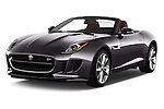 2017 Jaguar F-TYPE S-Convertible 2 Door Convertible Angular Front stock photos of front three quarter view