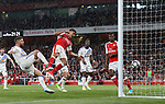 Arsenal's Alexis Sanchez scoring his sides second goal during the Premier League match at the Emirates Stadium, London. Picture date: May 16th, 2017. Pic credit should read: David Klein/Sportimage