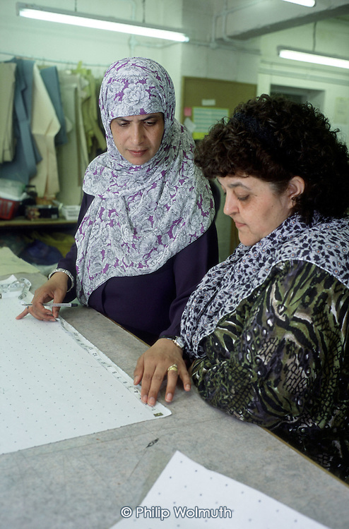 Dressmaking and soft furnishing course at Heba Women's Project, Brick Lane, which receives funding from Cityside Regeneration.  Tower Hamlets, East London.