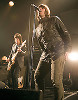 Beady Eye, or the core of Oasis without Noel Gallagher, playing live at their first full headline gig at the Barrowlands in Glasgow on Thursday 3rd March 2011... .Pictures: Peter Kaminski/Universal News and Sport (Europe)2010
