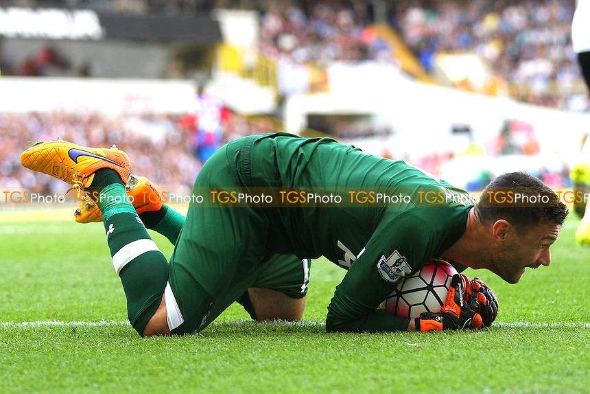 Hugo Lloris of Tottenham Hotspur saves  during Tottenham Hotspur vs Crystal Palace at White Hart Lane