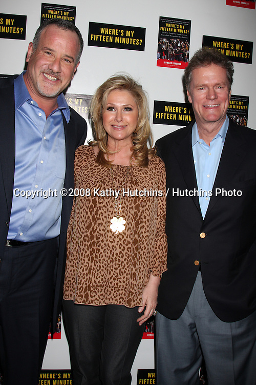"Howard Bragman & Rick & Kathy Hilton.Howard Bragman's Book Party for ""Where's My Fifteen Minutes"" at the Chateau Marmont Hotel in West Los Angeles, CA on .January 14, 2009.©2008 Kathy Hutchins / Hutchins Photo..                ."