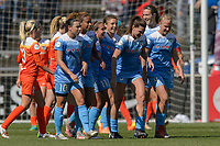 Bridgeview, IL - Saturday May 06, 2017: Chicago Red Stars during a regular season National Women's Soccer League (NWSL) match between the Chicago Red Stars and the Houston Dash at Toyota Park. The Red Stars won 2-0.