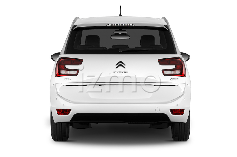 Straight rear view of 2016 Citroen Grand-C4-Picasso Shine 5 Door Mini MPV Rear View  stock images