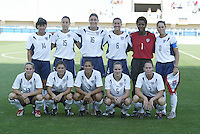 23 August 2004:  USA Starting Line-up before the game against Germany during the semifinal game at Pankritio Stadium in Heraklio, Greece.     USA defeated Germany, 2-1 in overtime.   Credit: Michael Pimentel / ISI