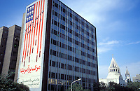 © Marcus Rose / Panos Pictures..Tehran, Iran...Anti-American mural on the side of a building.