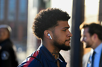 WASHINGTON D.C. - OCTOBER 11: DeAndre Yedlin of the United States walks off the team bus prior to their Nations League game versus Cuba at Audi Field, on October 11, 2019 in Washington D.C.