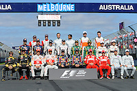 MELBOURNE, 27 MARCH - Images from the drivers' photograph session during the 2011 Formula One Australian Grand Prix at the Albert Park Circuit, Melbourne, Australia. (Photo Sydney Low / syd-low.com)