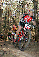 07 APR 2007 - THETFORD, UK - Kim Burrows -  British Mountain Bike X Country series Round 1 Race 3. (PHOTO (C) NIGEL FARROW)