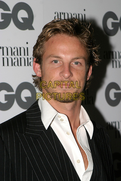 JENSON BUTTON.The 8th Anual GQ Men of The Year Awards,.The Royal Opera House,.London, 6th September 2005.portrait headshot pinstripe suit white shirt.www.capitalpictures.com.sales@capitalpictures.com.© Capital Pictures.