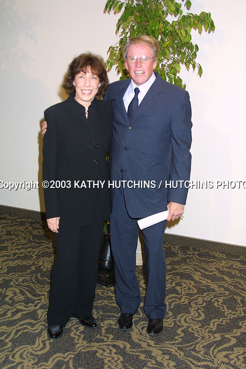 ©2003 KATHY HUTCHINS / HUTCHINS PHOTO AGENCY.WOMEN IN FILM CELEBRATES THE CRYSTAL AND LUCY AWARDS.MONDAY, JUNE 2, 2003.CENTURY CITY, CA....LILY TOMLIN AND GARY BUSY