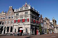 Nederland  Haarlem -  2019. Taverne de Waag. Rond 1597 is De Waag onder leiding van de Haarlemse stadsarchitect Lieven de Key gebouwd als gemeentelijk handels- en accijnskantoor. Op de begane grond in de Waag werden in de waaghal goederen gewogen. Afhankelijke van het gewicht werd er belasting over geheven. Tegewoordig is er een restaurant gevestigd. Foto Berlinda van Dam / Hollandse hoogte
